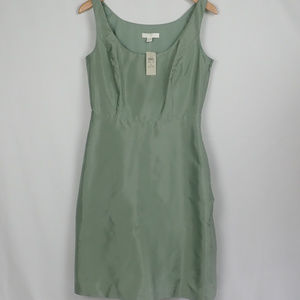 NWT Ann Taylor Green Silk Dress, Size 8
